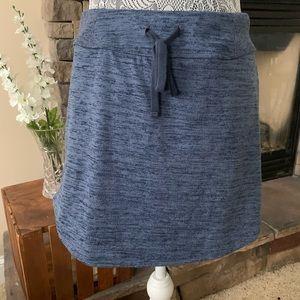 Athleta Blue Drawstring Skirt